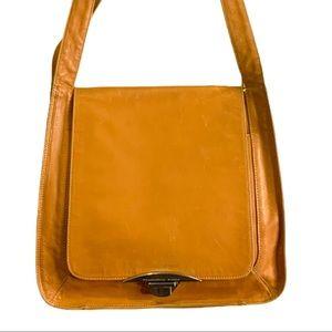 FRANCESCO BIASIA Tan Natural Leather Postman Bag
